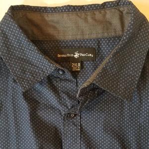 Beverly Hills Polo Club L/S Navy Shirt (2XLB)